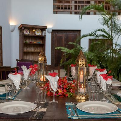 Mdoroni Behewa House Coastal Kenya Dining Candles 3